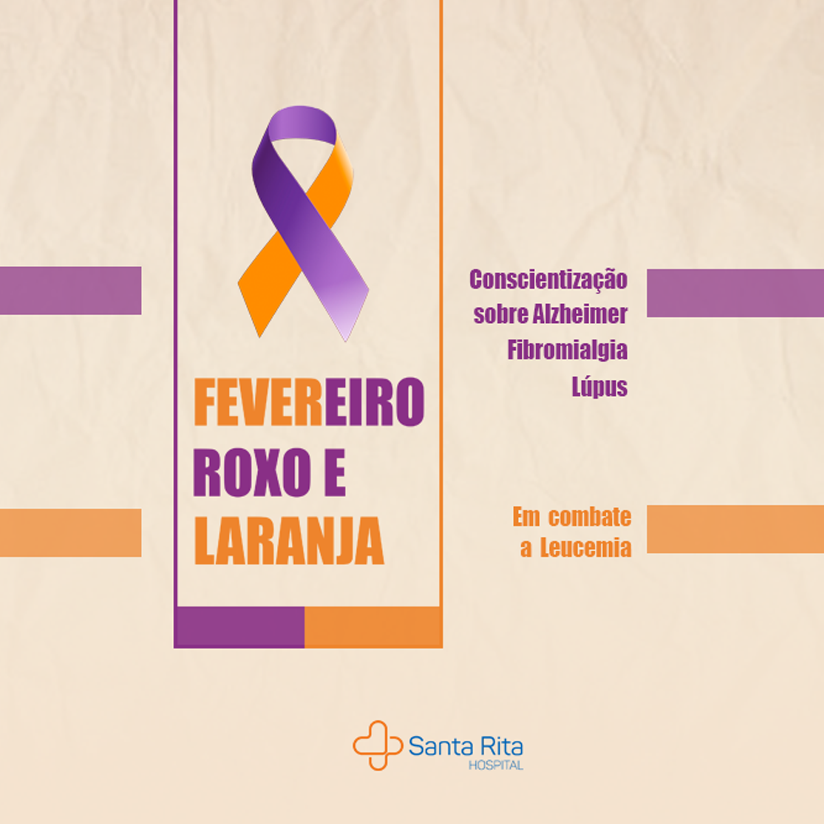 Hospital Santa Rita apoia campanhas de conscientização na saúde
