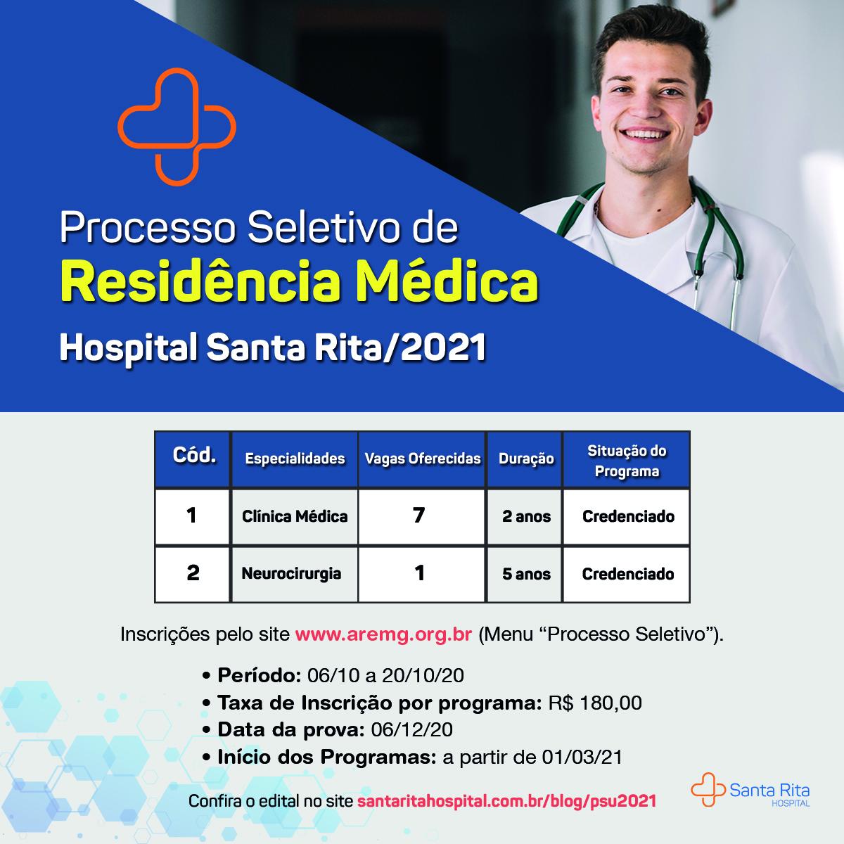 Edital PSU 2021 – Hospital Santa Rita