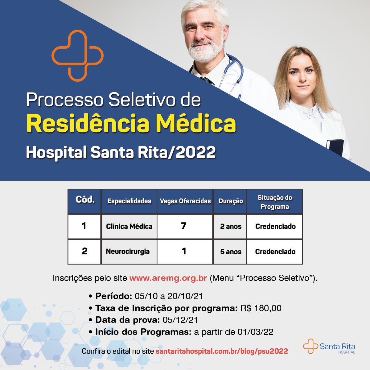 Edital PSU 2022 – Hospital Santa Rita